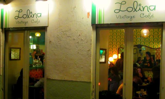 LOLINA VINTAGE CAFÉ, exterior. Malasaña.