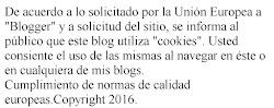 En cumplimiento de las normas de la U.E. solicitadas a Blogger