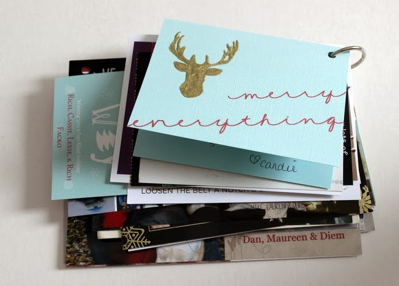 Voila! A Christmas Card Book is made in three simple steps.