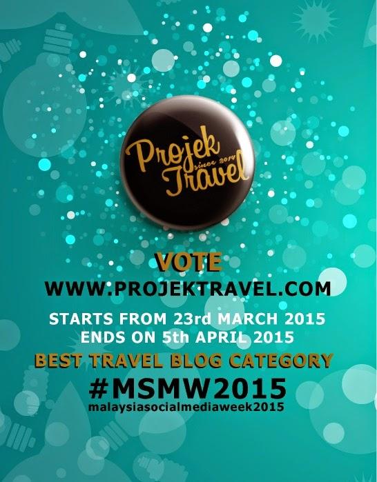 MALAYSIA BEST TRAVEL BLOG 2015 |  UNDI BLOG PROJEK TRAVEL