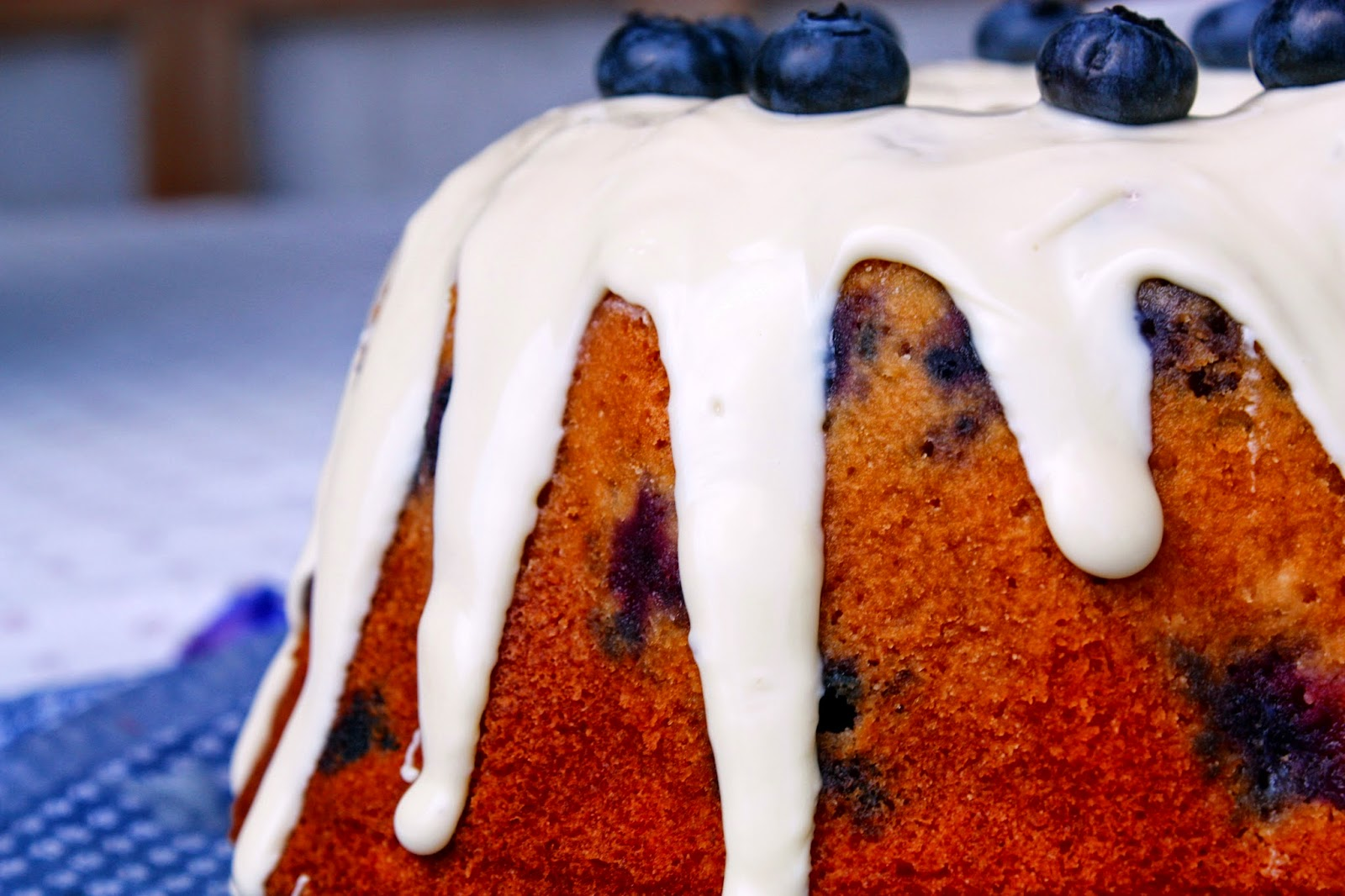 Sour Cream and Blueberry Bundt