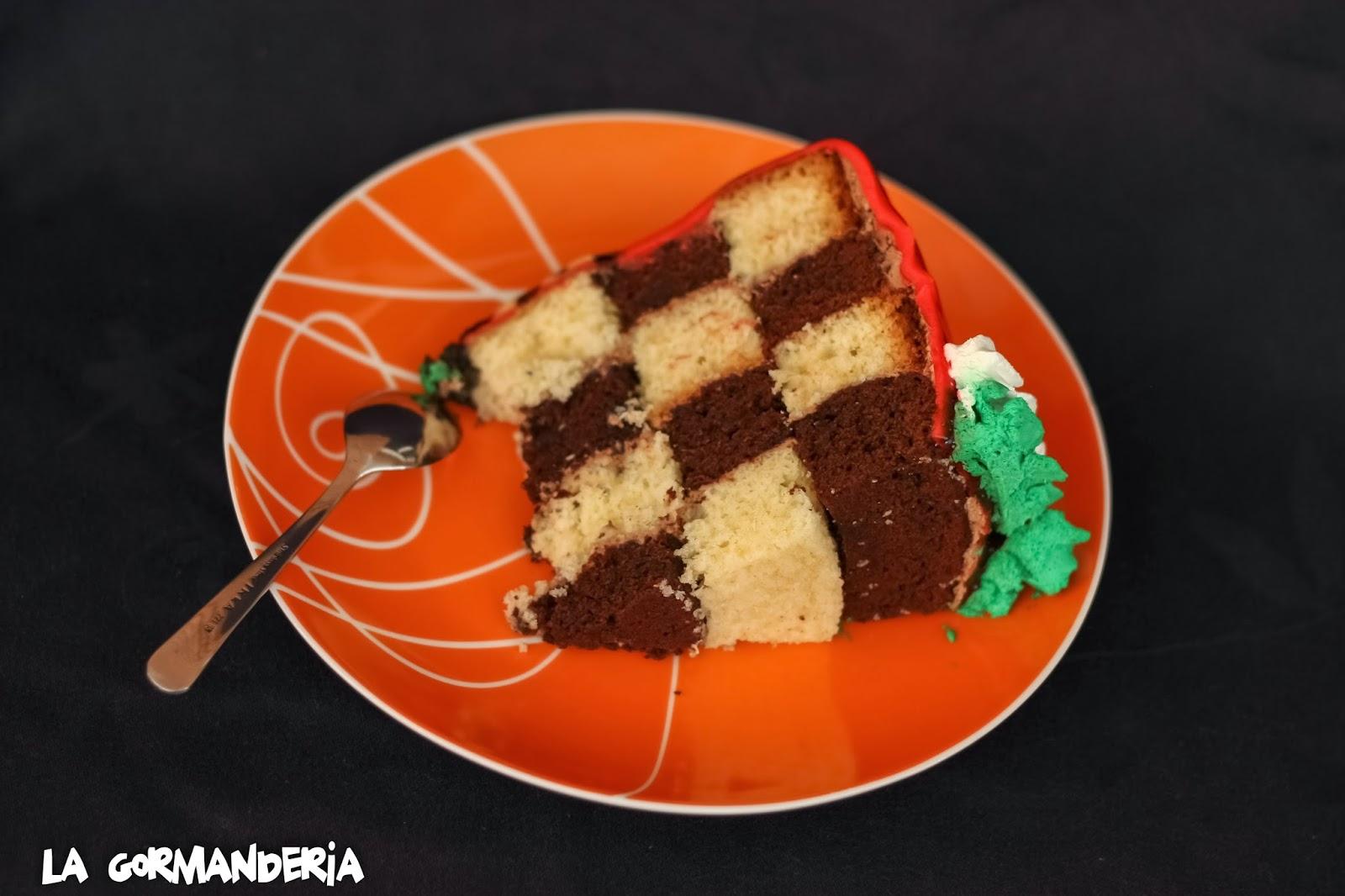 Tarta Ferrari Cake tipo Damero