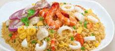 resep masakan indonesia nasi goreng seafood spesial praktis, mudah, sedap, nikmat, gurih