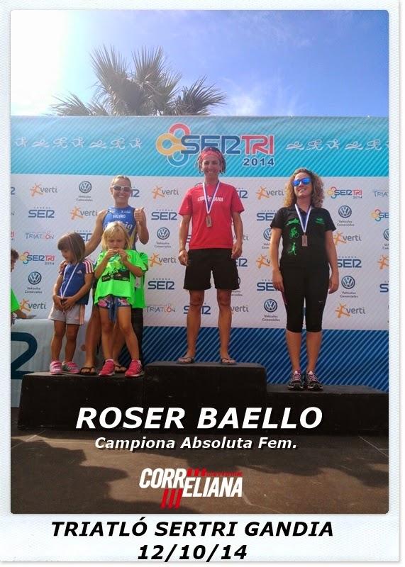 ROSER BAELLO CAMPEONA FEM. TRIATLÓN SERTRI GANDIA (12/10/14)