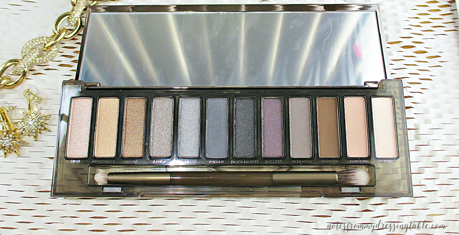 Urban Decay NAKED Smokey Palette Closeup notesfrommydressingtable.com