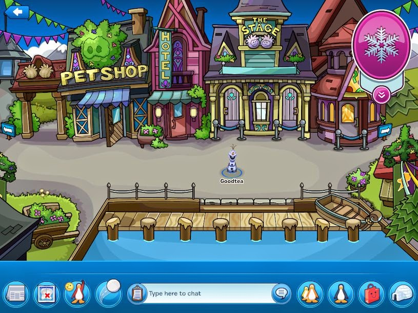 Club Penguin App Frozen Party