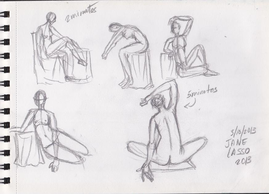 Tercera práctica de dibujos de poses