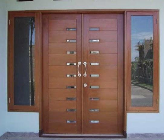 model pintu rumah minimalis 2 pintu