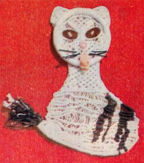 Как сплести кошку в макраме? Схема плетения кошки.