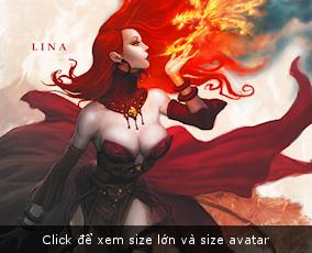 Lina fanart Dota