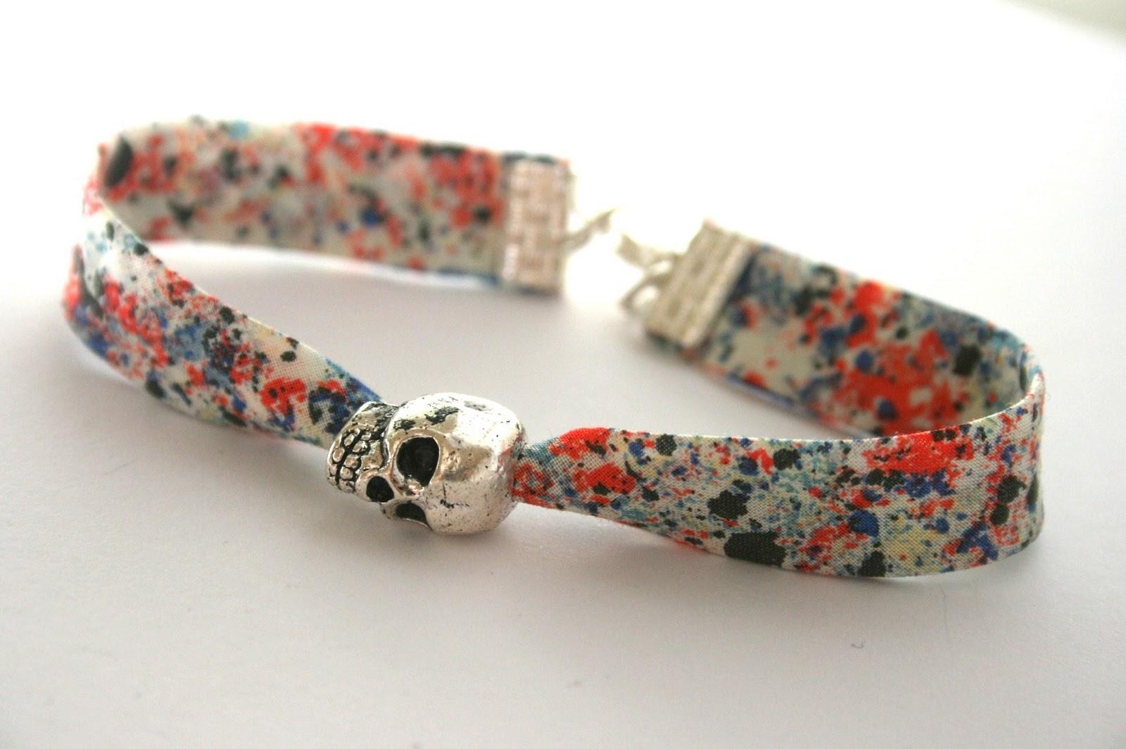 Bracelet liberty skull - Tissu pour bracelet liberty ...