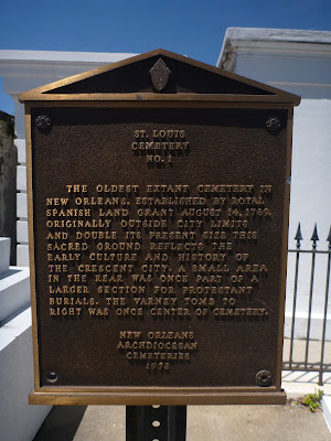 Saint Louis Cemetery #1 Plaque