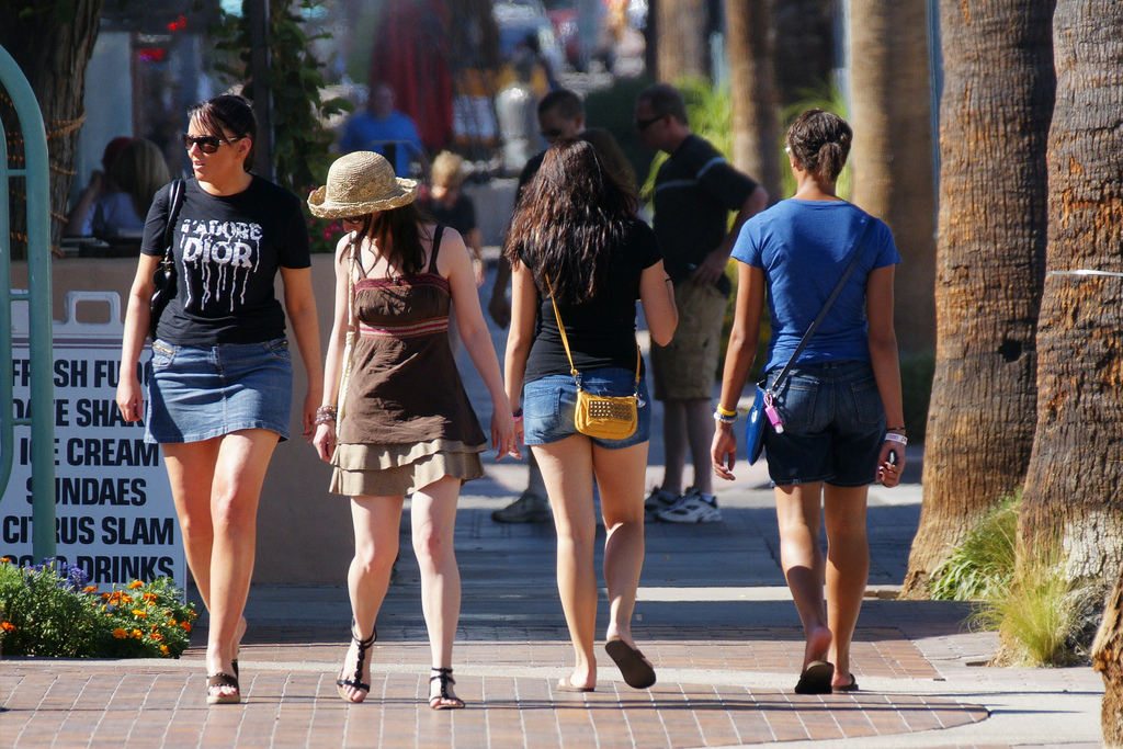 women in skirts