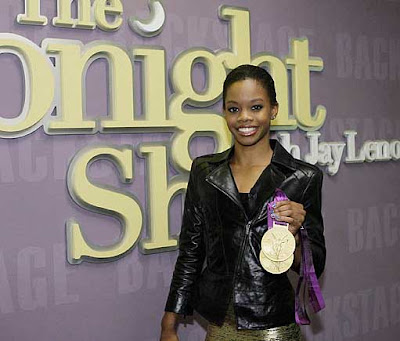Gabby Douglas Backstage on Jay Leno