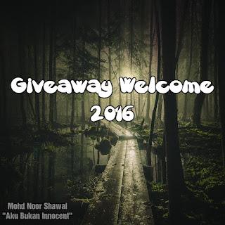 Pencarian Sponsor Giveaway Welcome 2016 by Aku Bukan Innocent