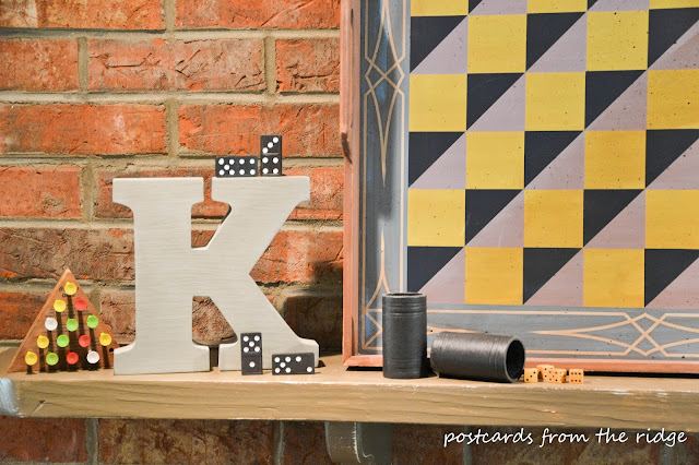 Decorating with vintage games and gameboards