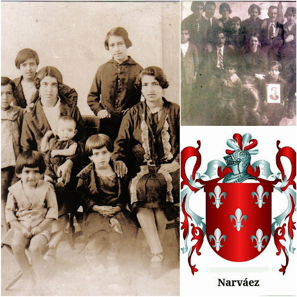 Collage Inés con su familia Narváez - Zuluaga a comienzo del siglo.