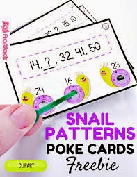 Snail Patterns Poke Card Freebie