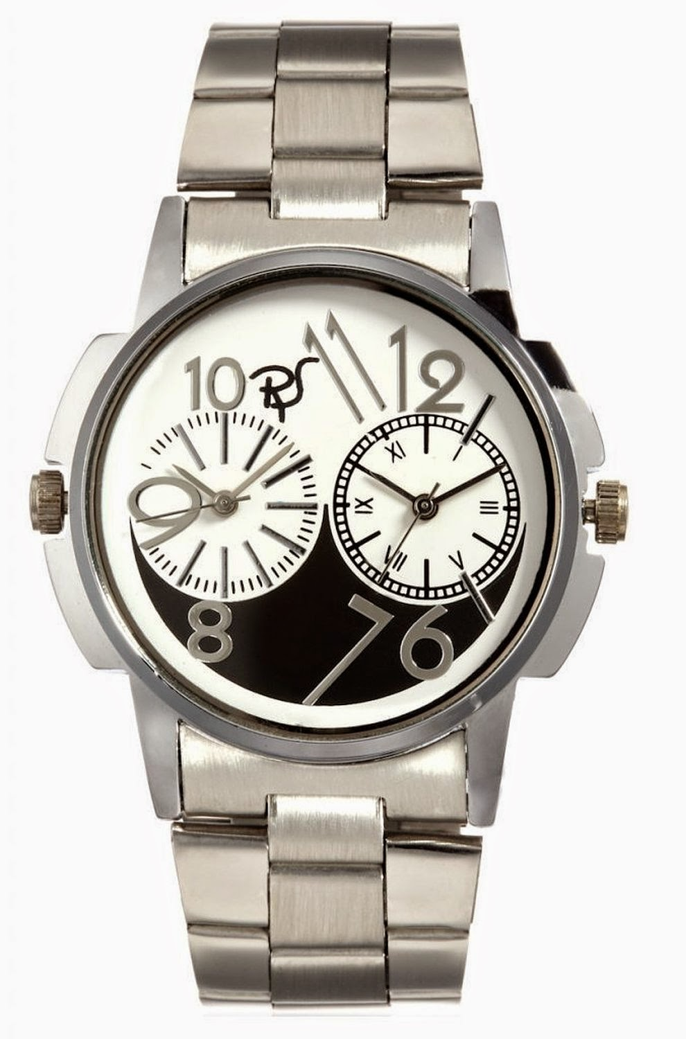 Buy RICO SORDI Mens Multifunctional Dual Time Steel Watch with black & white dial Rs 499 only at Amazon