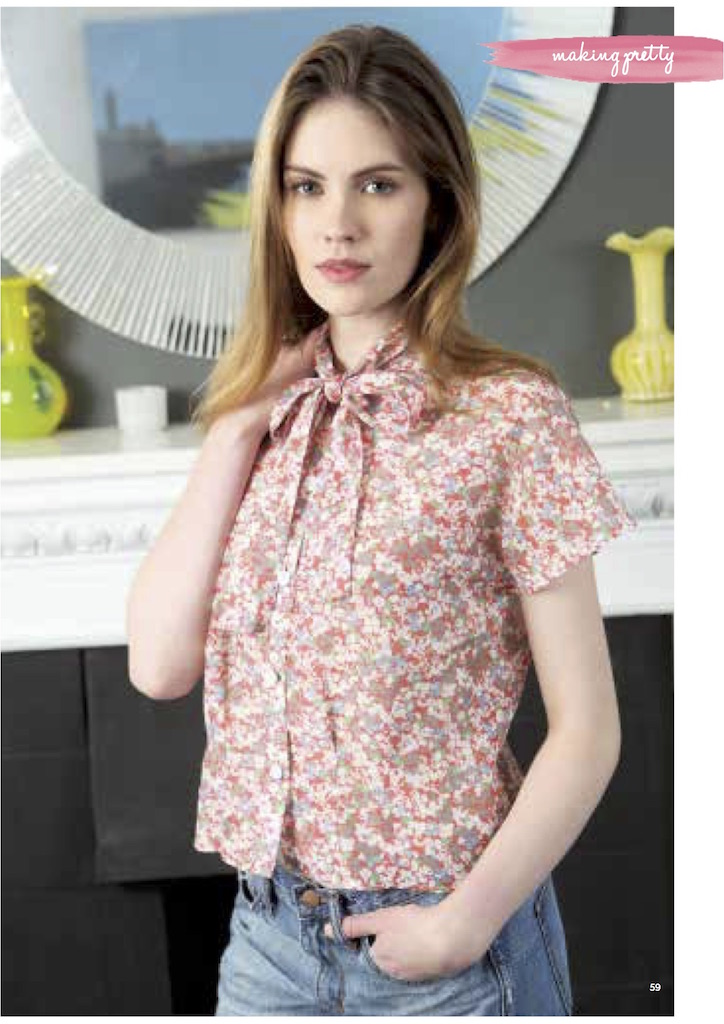 The Vintage Pattern Files: 1950's Sewing - Pussycat Bow Blouse