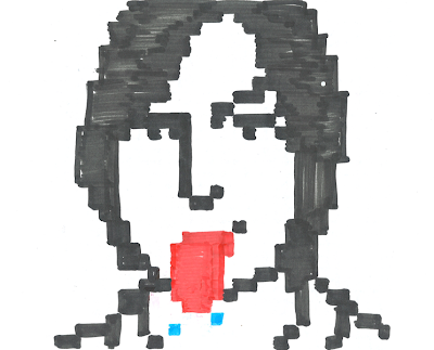 Hand drawn icon of Steve Jobs sticking his tongue out