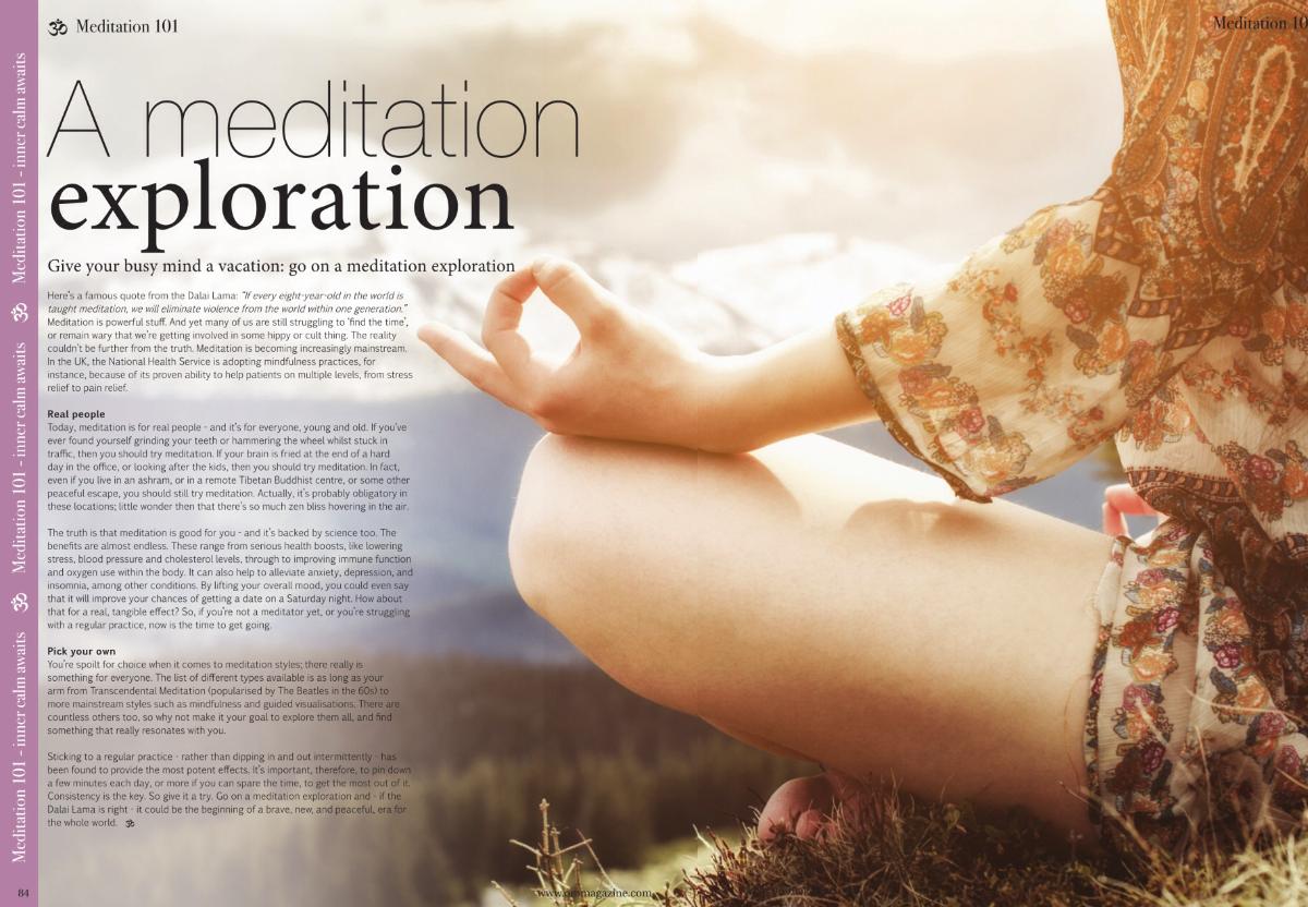 ThatRedheadSaid: OM Yoga Magazine