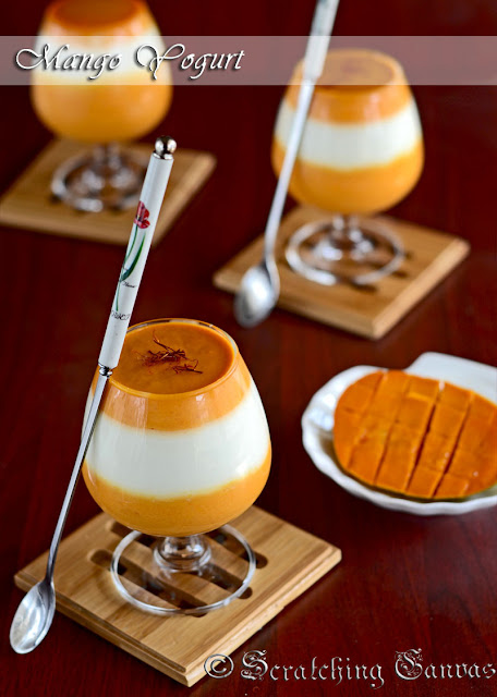 Homemade Sweet Mango Yogurt