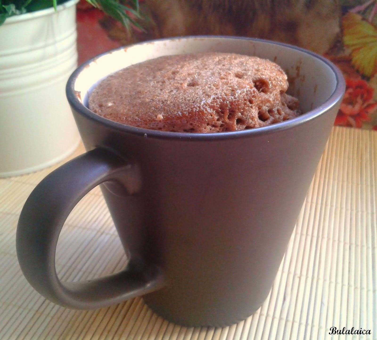 Bulalaica bizcocho de chocolate en una taza 2 minutos - Bizcocho microondas 3 minutos ...
