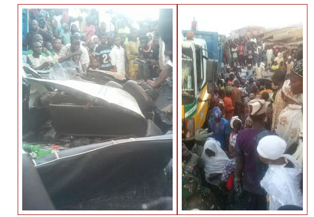 4 Dies, As Lorry Falls On A Commercial Bus Carrying Students Of FGGC, Oyo (Pics)