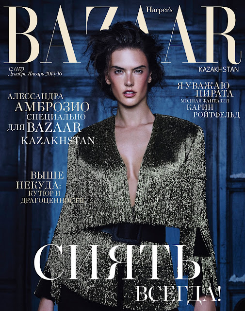 Actress, Model, @ Alessandra Ambrosio - Harper's BAZAAR Kazakhstan, December 2015