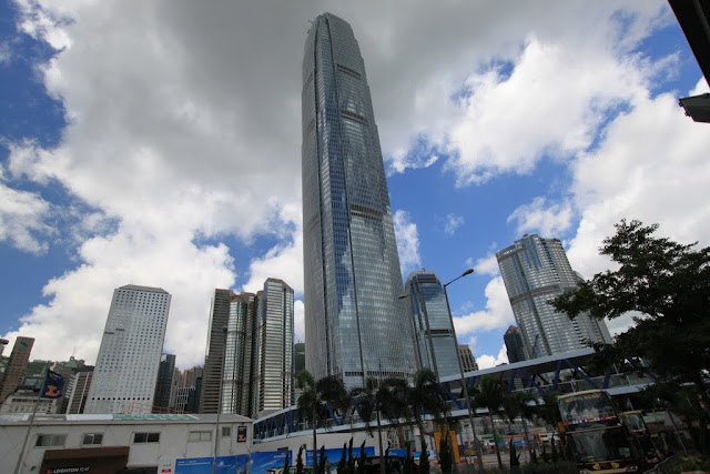 International Finance Centre is the tallest skyscraper on the Hong Kong Island in Hong Kong