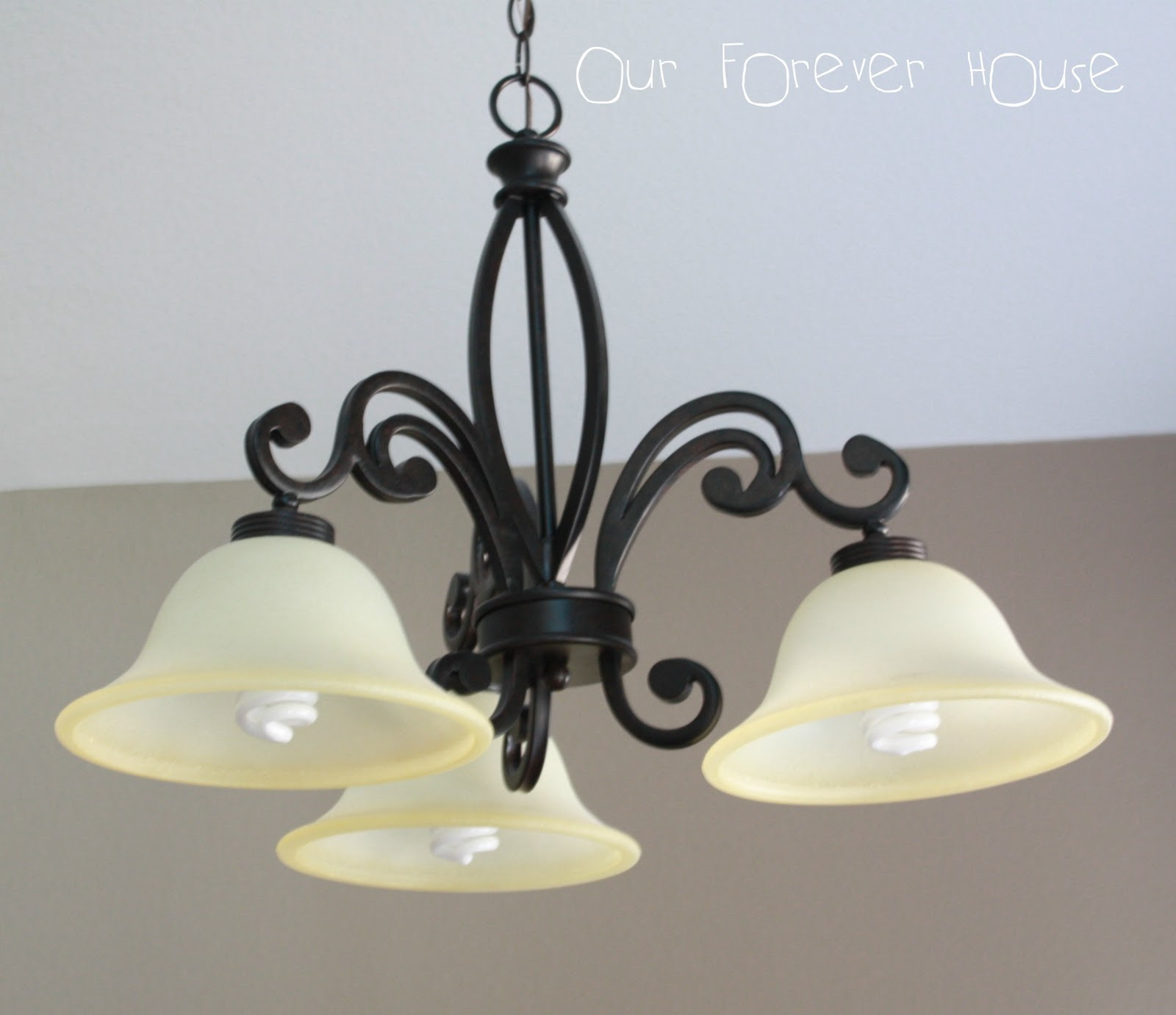 Bronze Kitchen Lighting Over a Table