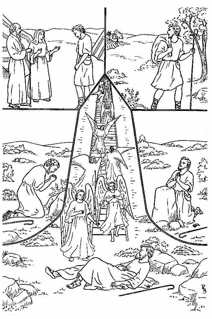 Único Jacob Y Esau Se Encuentran De Nuevo Para Colorear ...