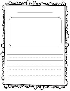 Lined Paper With Illustration Box | New Calendar Template Site