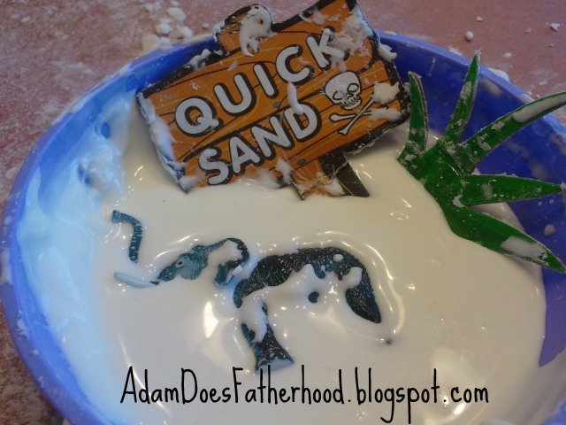 how to make quicksand without cornstarch