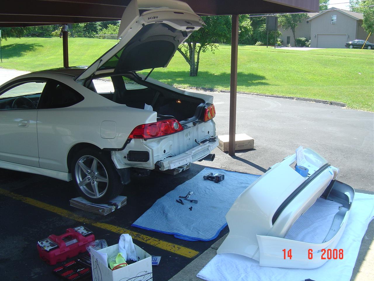 Acura RSX Type-S / Honda Integra DC5: Acura RSX Rear Under Spoiler ...