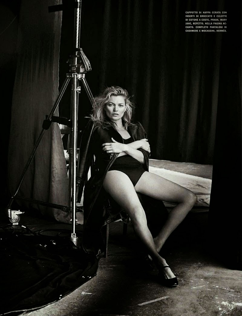 Kate Moss and Peter Lindbergh Vogue Italy