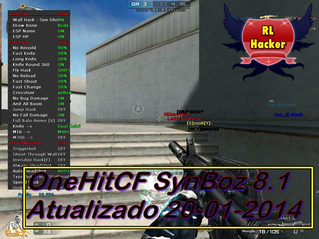 OneHitCF Synboz 8.1 Att  20/01/2014 RL+Hackers