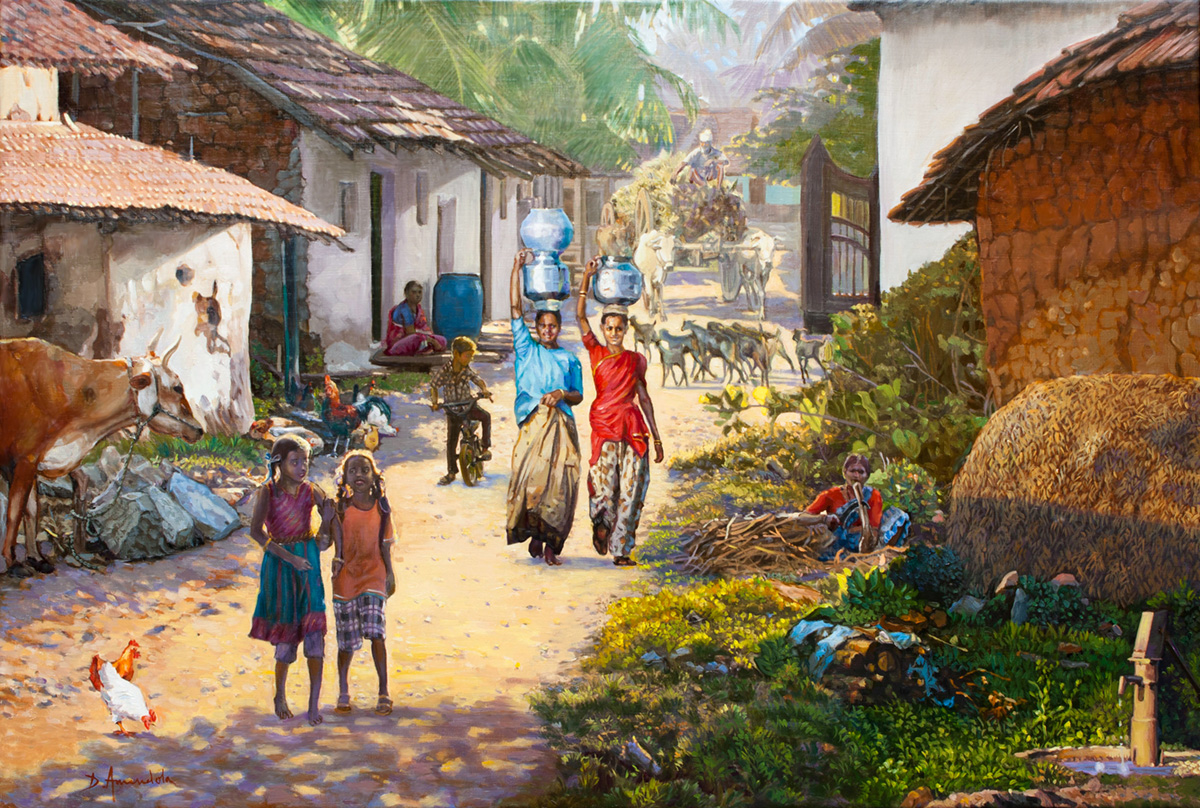 essay on a village scene This model essay will help you get started writing about the charms of village life beautiful scenes of nature, fresh air, hospitable people, and quiet life - all these things come to our mind when we think of the village a village is a perfect place to live if you are in search of harmony with nature.