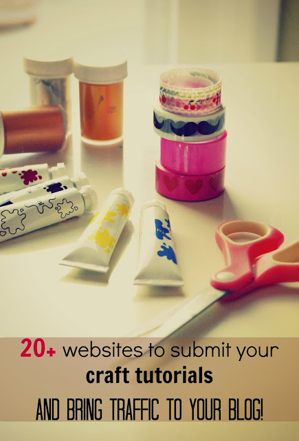 20+ craft sites to submit your tutorials!