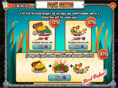 imagen de la oferta del dragon oceano de dragon city