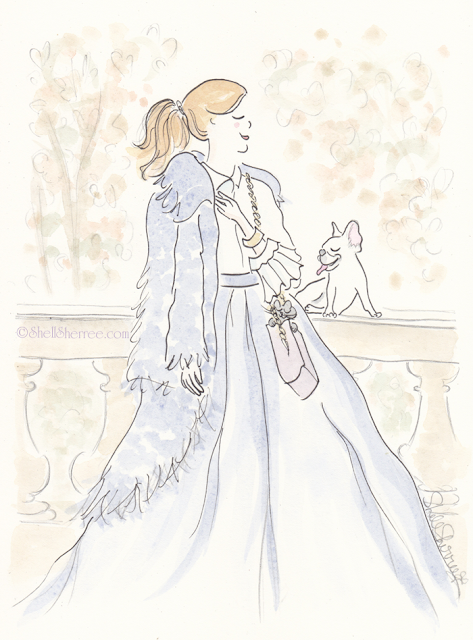 Fashion and fluffballs illustration: Chase the Blues © Shell-Sherree