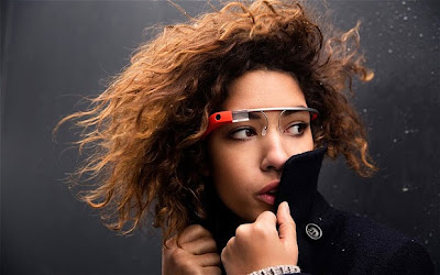 Girl with Google Glass