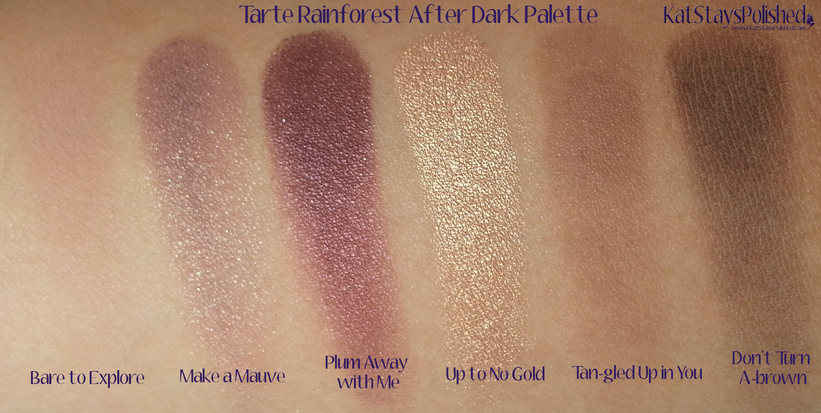 Tarte Rainforest After Dark Palette - Eye Colors | Kat Stays Polished