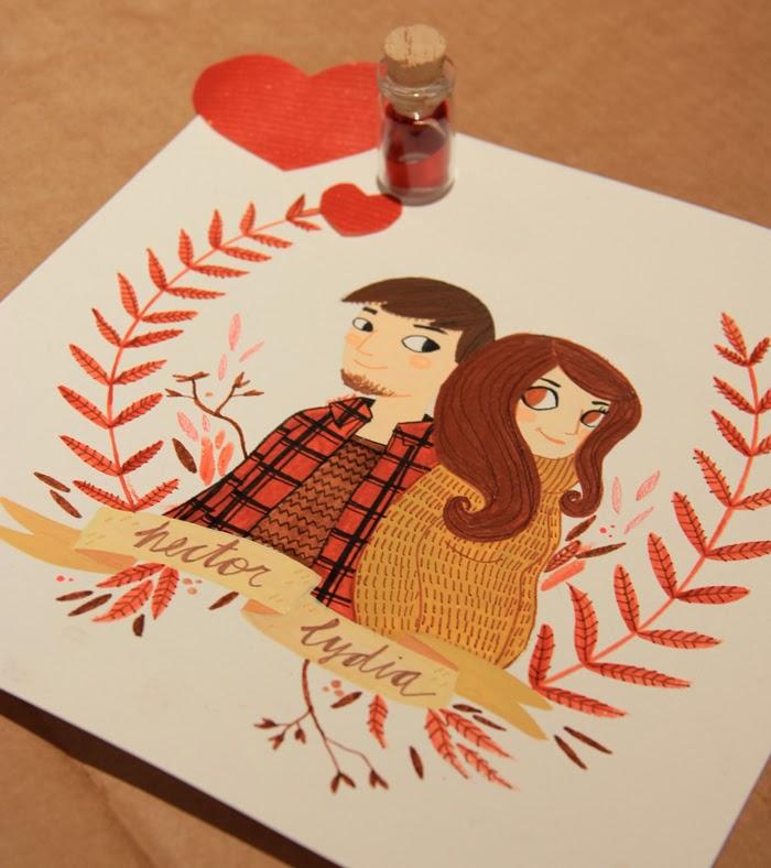 Lydia s nchez illustration regalo de san valent n original for Regalos de amistad para hombres