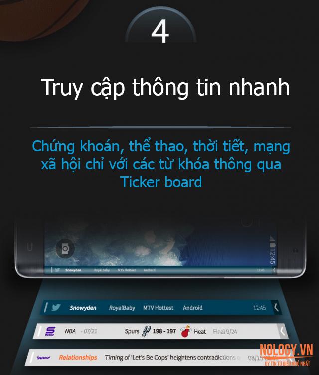 Galaxy Note Edge Docomo cho phép truy cập nhanh thông tin
