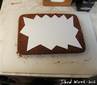 cool cake pattern, firework, cut out shape, cake decorations