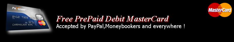 Payoneer Free Prepaid Debit MasterCard