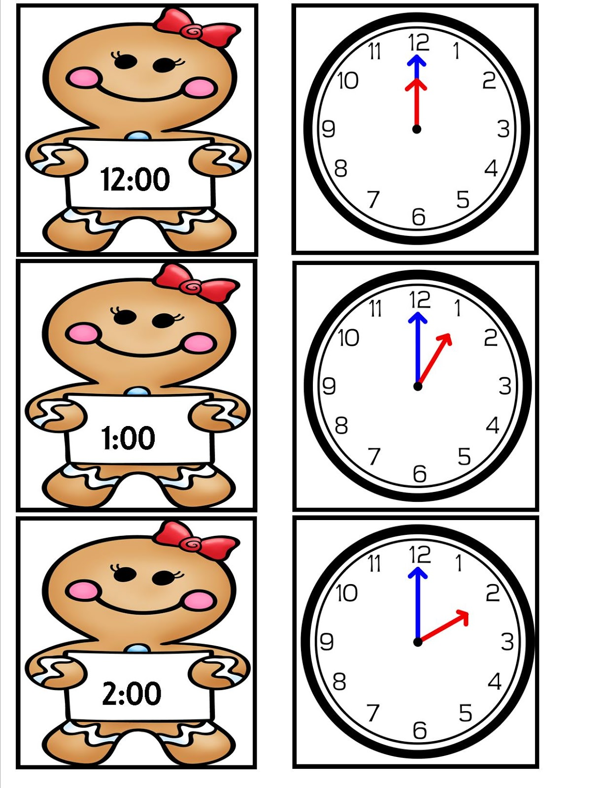 Displaying 20> Images For - Clock Worksheets To The Hour...