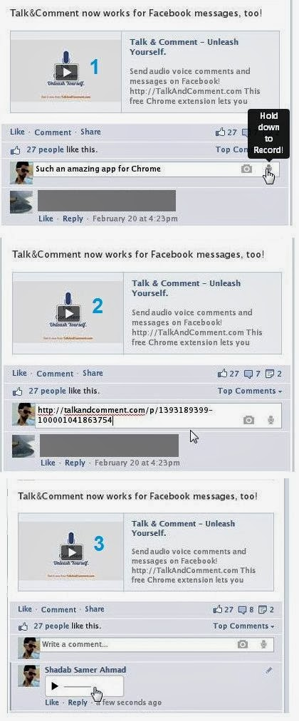 Talk & Comment complete test on Facebook works flawlessly